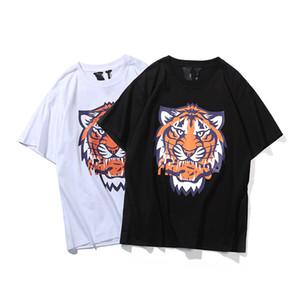 Vlone Camiseta Hombre Mujer Alta Calidad Tigre Camiseta