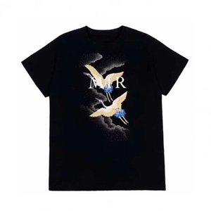 Diseñador de lujo camiseta camiseta del verano del diseñador de moda para hombre camiseta de Hip Hop Hombres Mujeres Negro camisetas de manga corta del tamaño S-XXL