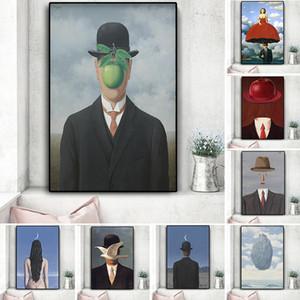 Rene Magritte Leinwand-Malerei Surrealismus Klassische Kunst Reproduktion Poster und Drucke Wall Art Bild für Wohnzimmer Cuadros