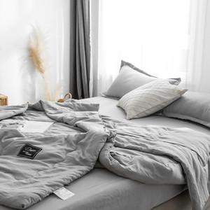 Nórdico Colcha de Verão Colcha de Algodão Lavável Leve Fino Cobertor Colcha de Arrefecimento Lavável Cobertor De Cama Lance Cobertor