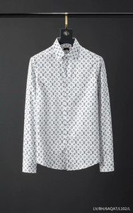 mens camice di vestito vestiti di marca del progettista della camicia camicia di marca 040 maschio cotone di alta qualità a maniche lunghe della camicia di Hip Hop di stile 2019 nuovo arrivo