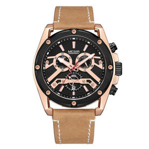 Gorben Bronze / Black Quartz Мужские часы Мужские часы Дата кварцевые наручные часы Мода Бизнес Мужские наручные часы