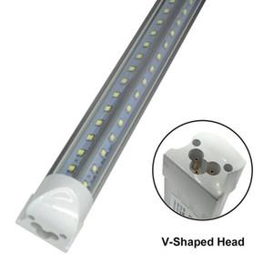 Integrado de 8 pies de 2,4 m 2400mm 65W LED T8 tubo de luz SMD2835 de alta brillante 8 pies 6500lm envío 85-265V iluminación fluorescente libre 50