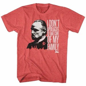 Brand new 2020 Verão homens Short OFICIAL Godfather Don Corleone I DonApologize Ment-shirt Familia bonito camisetas