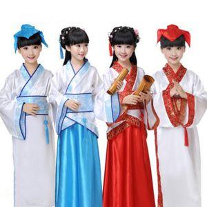древнекитайской студент костюм костюмы для детей Hanfu фарфора стиле сцены Peformance для фото студии Хэллоуин косплей одежды