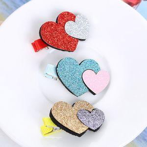 MUQGEW 2Pcs Hair Pin Baby Girls Toddler Infant Kids Heart Pattern Hairpin Hair Clip Accessories Hearts Shape 2019 Fashion