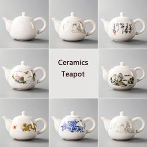 Cerâmica Bule Yixing Tea Pot Branco Porcelana Tea Define chinês Bule Único Chaleira Kung Fu Teaset Infuser China Tea Cups D001