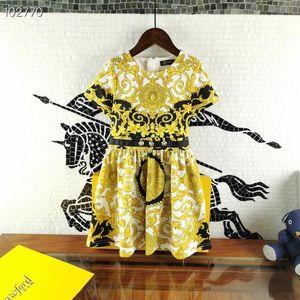 2020 Printemps Eté Fille Imprimé robes vintage floral enfants princesse enfants robe de fleurs de vêtements au détail