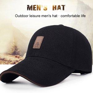 1Piece Baseballmütze Männer justierbare Kappe beiläufige Freizeit Hüte Solid Color Mode Sommer-Herbst-Hut Bequem Einfach Frühling