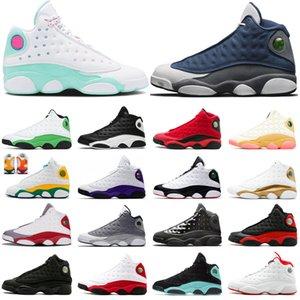 Новые 13 13s Flint Лаки Зеленый Мужчины женщин Jumpman Баскетбол обувь Aurora Green, что любовь Бред площадка мужские Кроссовки спортивные кроссовки