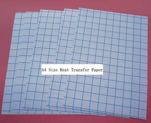 Para materiales 100% algodón 10 hojas de hierro A4 en papel de transferencia de calor de impresión de inyección de tinta, camiseta de tela oscura