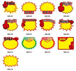 بطاقة سعر الترويج بطاقة بطاقة سعر ورقة إنفجار بطاقة تسعير على شكل بطاقة عرض لافتة إعلانية تعرض ملصق 10bag T1I1840