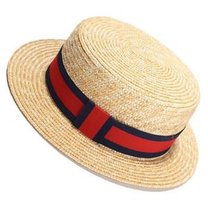 Mulheres do chapéu de palha do verão chapéus de praia Panamá Straw Chapéus pára-sol ao ar livre Caps para viajar aba larga Chapéus