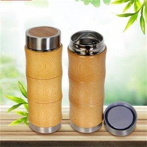 Bouteilles à vide avec Filtre en acier inoxydable bambou tasses à café Voyage tasse d'eau chaude produit spécial Keep 28 9jfH1