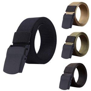 Men Belt Women Hot Sale High Quality Automatic Buckle Nylon Belt OutdoorTravel Tactical Waist Belt Unisex add Long Belts 130cm