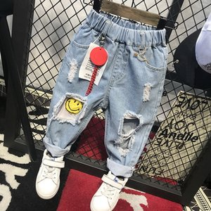 Children Broken Hole Jeans New Boys Girls Jeans Fashion 2-6Years Baby Children Jeans Autumn High Quality Kids Trous ( C12063