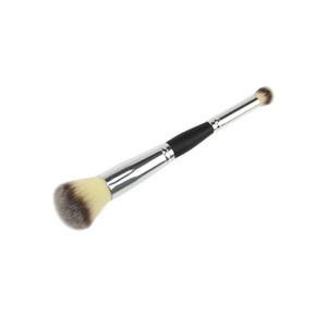 Base Doble Pinceles de Maquillaje de Maquillaje Profesional Multifuncional Cepillo Contorno de Cara Nariz Sombra Polvo Cepillos Cosméticos