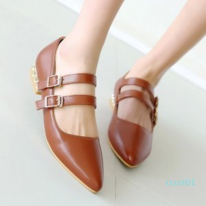 Hot Sale-Large size casual flats with pointed toe and low heel comfortable fashion footwear for leisure style ct1