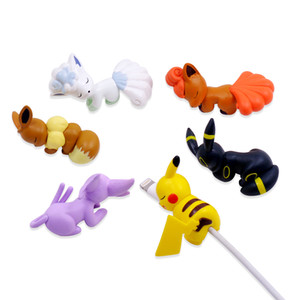 CHIPAL Cartoon Bites Cute Animal Cable Protector for iPhone USB Charger Wire Winder Cover Organizer Bite Phone Holder Accessory