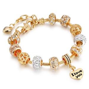 venda em todo o mundo quente DIY grande buraco pulseira de pérolas ornamentos comerciais internacionais da cadeia de mão do ouro Europa