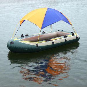 2-4 человек Надувная Лодка Каяк Гребная Лодка Навес Тент Анти-Уф Солнцезащитный Козырек От Укрытия От Дождя Рыбалка Палатка