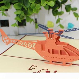 B Stereo Helicopter Postcard Carving 3D Pop Up Greeting Cards For Happy Birthday Invitation Card Hollowed Out Design 3 9me BB