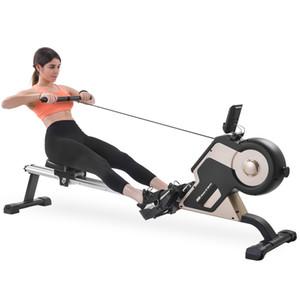 Magnetische Rudergerät Compact Indoor Rower Magnetspannsystem LED-Monitor 8 Level Widerstandseinstellung Fitnessgeräte Home Gym