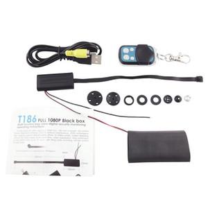 كامل HD 1080P الصندوق الأسود T186 DIY وحدة كاميرا مصغرة مع جهاز التحكم عن بعد وكشف الحركة DVR كاميرا أمن الوطن