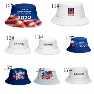 Donald Trump 2020 hat keep america great presidential election 2020 vote Bucket Hat Unisex Fishmen Cap 17 styles 60pcs T1I2019
