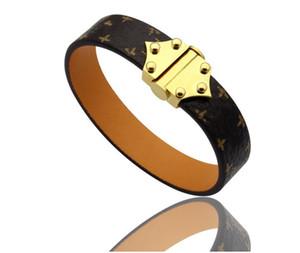 Moda cuero de la marca con pulseras diseñador del logotipo de los brazaletes para las mujeres para hombre de joyería de lujo de la boda del partido de parejas amantes de compromiso de regalo 02