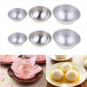 3D Aluminium Alloy Cake Mold Bath Bomb Baking Moulds Roast Ball Mold Own Crafting Handmade Sphere Baking Pastry Mould 3 Sizes LJJP288