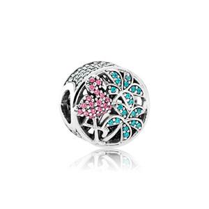 925 Jóias De Prata Esterlina Acessórios Charme Europeu Beads Original caixa para Pandora Pulseira Bangle Rainforest Flamingos Encantos