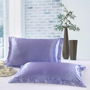 Hot Silk Pillow Case Capa Glamour Retângulo Fronha Almofada Home Sofá Car Decor Ice silk Brilhante Travesseiro Cobre 48 * 74 cm Epacket