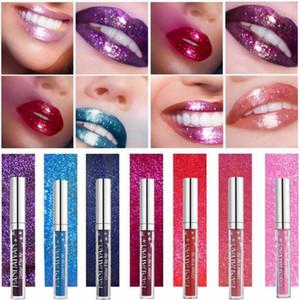 7 Цвет Блеск Помада Продолжительный Водонепроницаемый Shimmer Блестящий красный блеск для губ Make Up Metallic Синий Фиолетовый Розовый Жидкая Помада