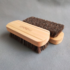 Horse Bristle Car Interior Cleaning Brush Leather Seat Brush High Quality Horse Bristle Detail Brush Good Quality Horse Bristle Wooden