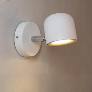 2019 Wandleuchte Modernen Stil Wandleuchte Einstellbar Schwarz / Weiß 7 Watt für Schlafzimmer Foyer Spiegel Licht Korridor Wandleuchte AC90-220 V