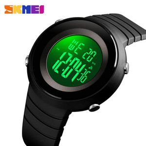SKMEI Simple Montres EL Sport chronomètres Wristwatch pour les hommes d'alarme numérique Chrono Hour Homme relogio numérique étanche 1507