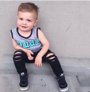 الجينز الطفل أزياء ثقب ممزق أطفال جينز بنات جينز الأولاد سروال الاطفال نحيل بنطلون ملابس الاطفال الرضع الملابس طفل الملابس B414