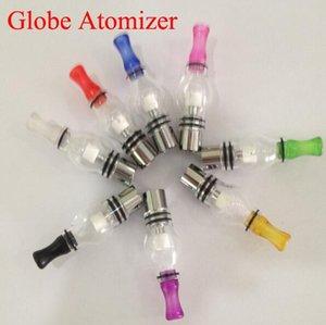Lampadina Style Glass Globe Cera atomizzatore Single Dual ceramica quarzo cotone Bobine Secco Erbe vaporizzatore pen Dome Atomizer Per Ego T Evod Batteria