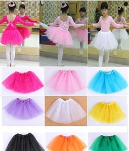 Wholesale 10 Colors Baby Girls tutu dress Kids Dancing Tulle Tutu Skirts Pettiskirt Dance wear Ballet Dress Fancy Skirts Costume 1-8T lxhua