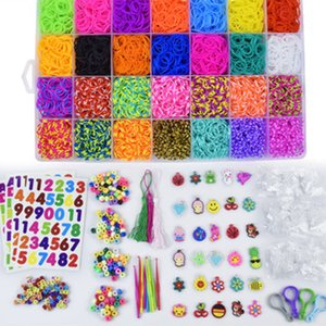10000pc DIY Toy Rubber Loom Bands Set Kid DIY Bracelet Silicone Rubber Bands Elastic Rainbow Weave Loom Bands Toy Children Goods CX200605