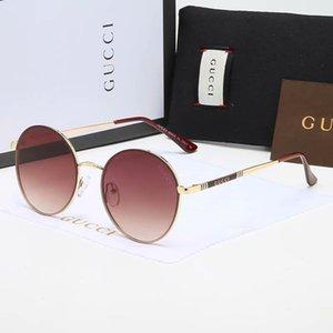 2020 Trendy Sunglasses Fashion Women Men Sunglasses 1836 Classic Metal Oval Sunglasses Fashion Glasses