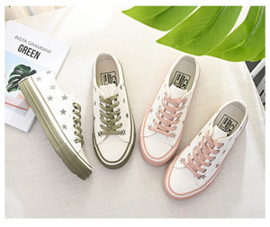 nuove scarpe di tela amore inferiori piccole scarpe bianche donna nel 2019 estate tutti i tipi di sporco coreano piccola arancia scarpe di bordo chic vento