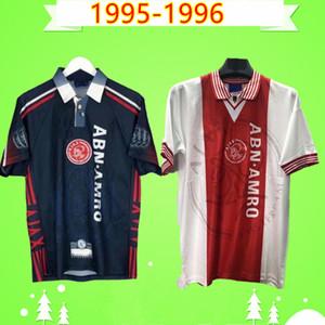 Ajax 1995 1996 Retro soccer jerseys home away classic vintage antique 95 96 football shirts Kluivert Rijkaard Litmanen Overmars Maillot