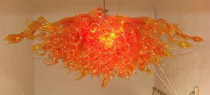 Art und Weise China Mini Chandelier orange geblasenem Glas Kostenloser Versand Farbe Größe Customized Hand Blown Hängeleuchten