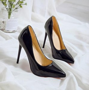8Hot style 2020 spring and autumn new sexy patent leather stiletto heel shallow commuter single shoe trend