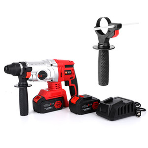 Brushless Lithium Electric Impulse Drill with Charging Hammer, Electric pick and Electric Drill