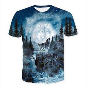 Men t -shirt new Wolf print T shirts 3D Men T-shirts Novelty Animal Tops Tees Male Short Sleeve Summer O-Neck Tshirts