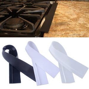 New Kitchen Flexible Silicone Stove Counter Gap Cover Filler Seals Spills Oven Heat-Resistant Mat Oil Dust Water Seal