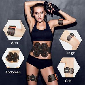 Estimulador muscular Vibração Belt EMS Massager Toner Músculo Abdominal Perda instrutor corpo emagrecimento máquina da aptidão do treinamento do peso